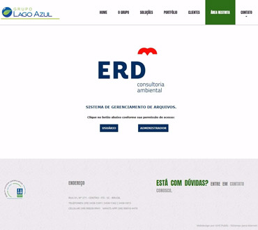 ERD Consultoria Ambiental - Intranet