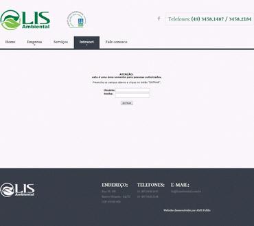 LIS Serviços Ambientais - Intranet